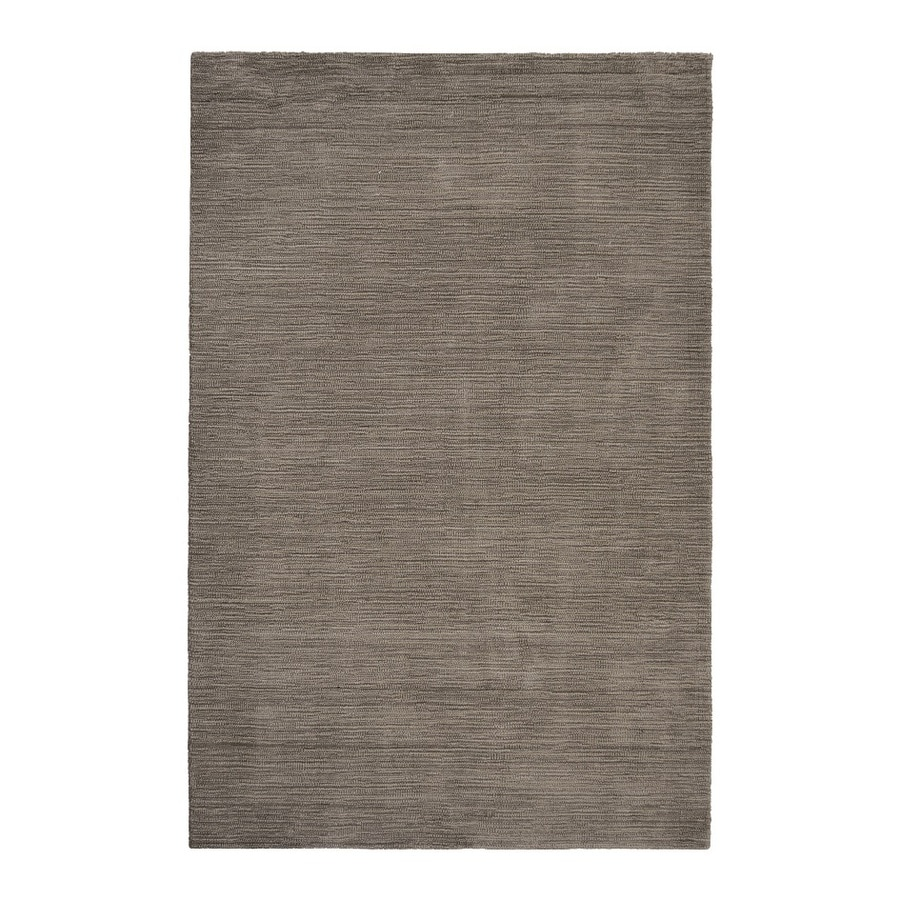 allen + roth Monteith Brown Rectangular Indoor Handcrafted Area Rug (Common: 5 x 8; Actual: 5-ft W x 7.5-ft L)