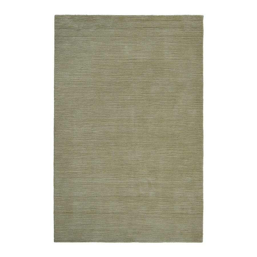 allen + roth Monteith Green Indoor Handcrafted Area Rug (Common: 9 x 12; Actual: 9-ft W x 12-ft L)