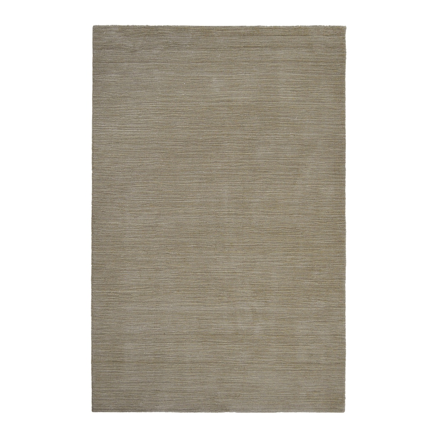 Allen + Roth Monteith Oatmeal Rectangular Indoor Handcrafted Area Rug  (Common: 9 X 12