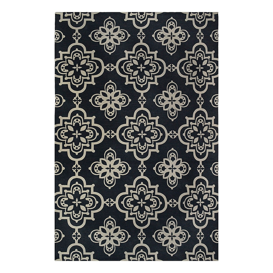 allen + roth Gaines Midnight Blue Rectangular Indoor Woven Area Rug (Common: 9 x 12; Actual: 108-in W x 144-in L)
