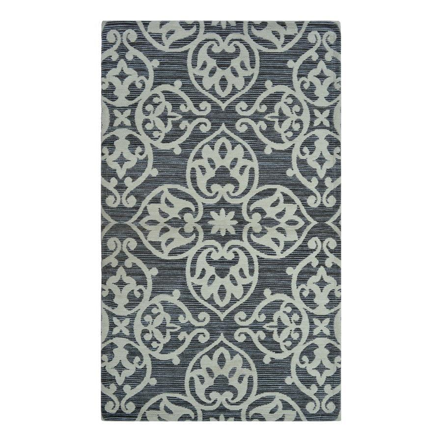 allen + roth Grey Medallion Rectangular Indoor Woven Throw Rug (Common: 2 x 4; Actual: 27-in W x 45-in L)
