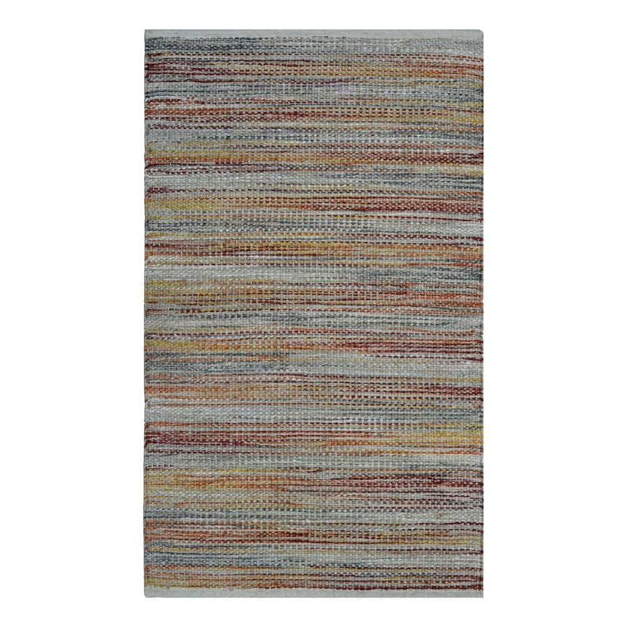 allen + roth Natural Rectangular Indoor Woven Nature Throw Rug (Common: 2 x 4; Actual: 2.25-ft W x 3.75-ft L)