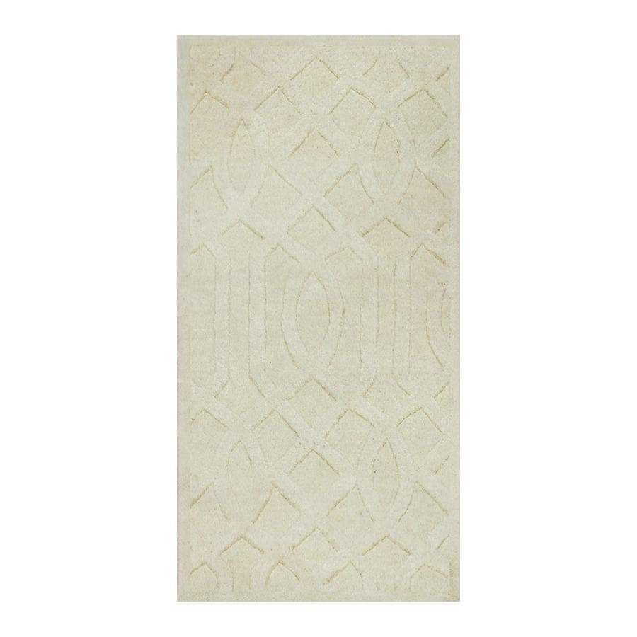 allen + roth Ivory Rectangular Indoor Tufted Throw Rug (Common: 2 x 4; Actual: 2-ft W x 4-ft L)
