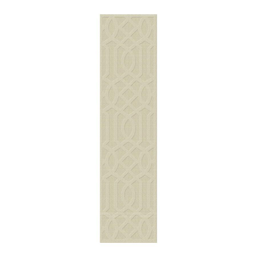 allen + roth Ivory Rectangular Indoor Tufted Runner (Common: 2 x 8; Actual: 24-in W x 96-in L)