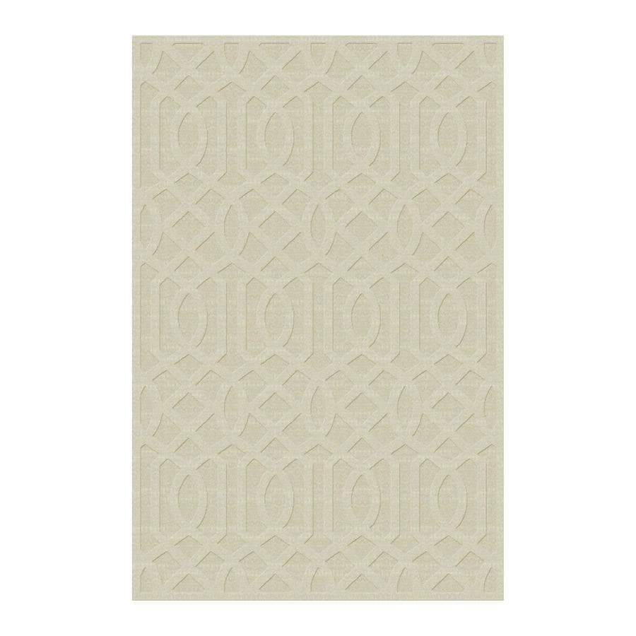 allen + roth Ivory Rectangular Indoor Tufted Area Rug (Common: 5 x 8; Actual: 60-in W x 90-in L)