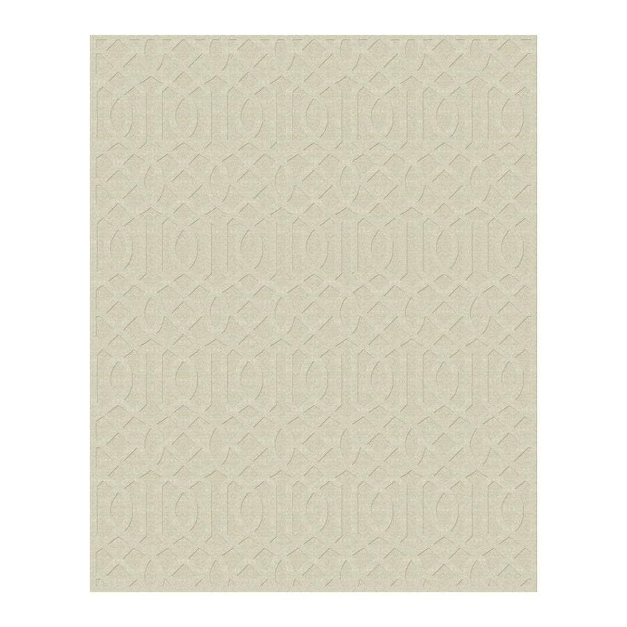Allen + Roth Ivory Rectangular Indoor Tufted Area Rug (Common: 8 X 10;