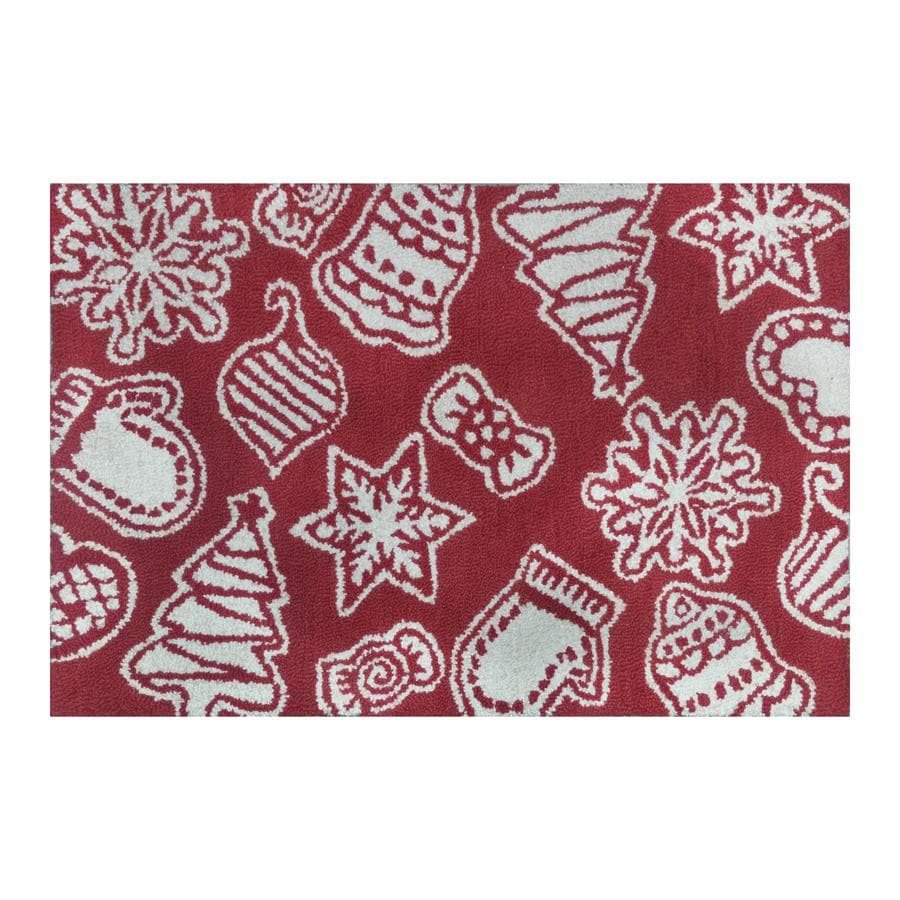 Holiday Living Multi Rectangular Indoor Handcrafted Holiday Throw Rug (Common: 2 x 3; Actual: 2-ft W x 3-ft L)