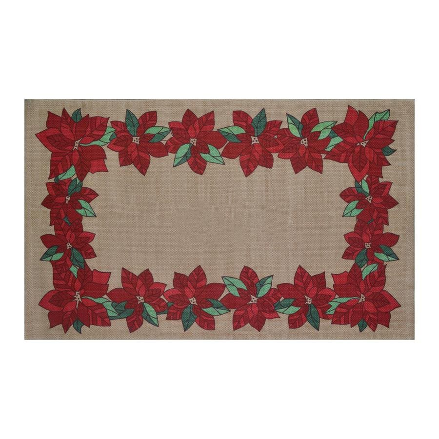 Holiday Living Multi Rectangular Indoor Woven Holiday Throw Rug (Common: 2 x 3; Actual: 1.75-ft W x 2.84-ft L)