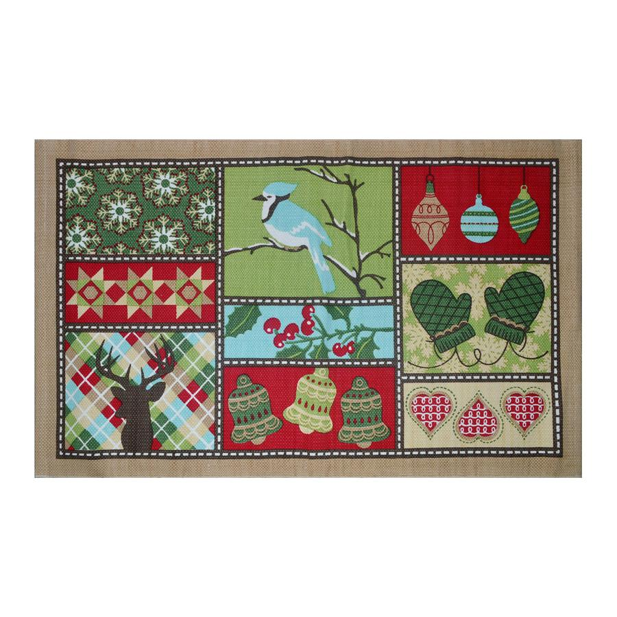 Holiday Living Multicolor Rectangular Indoor Woven Holiday Throw Rug (Common: 2 x 3; Actual: 21-in W x 34-in L)