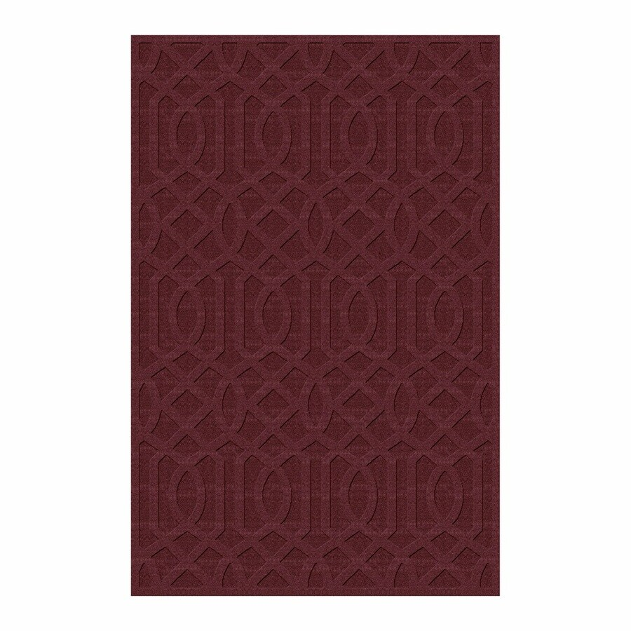 allen + roth Townlay Red Rectangular Indoor Tufted Area Rug (Common: 8 x 10; Actual: 8-ft W x 10-ft L)