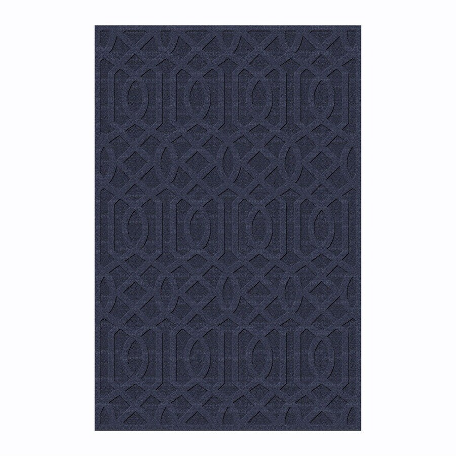 allen + roth Townlay Indigo Rectangular Indoor Tufted Area Rug (Common: 5 x 8; Actual: 5-ft W x 7.5-ft L)