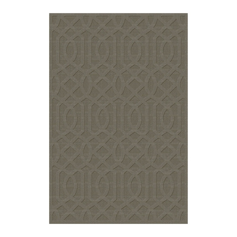 allen + roth Townlay Tan Rectangular Indoor Tufted Area Rug (Common: 5 x 8; Actual: 5-ft W x 7.5-ft L)