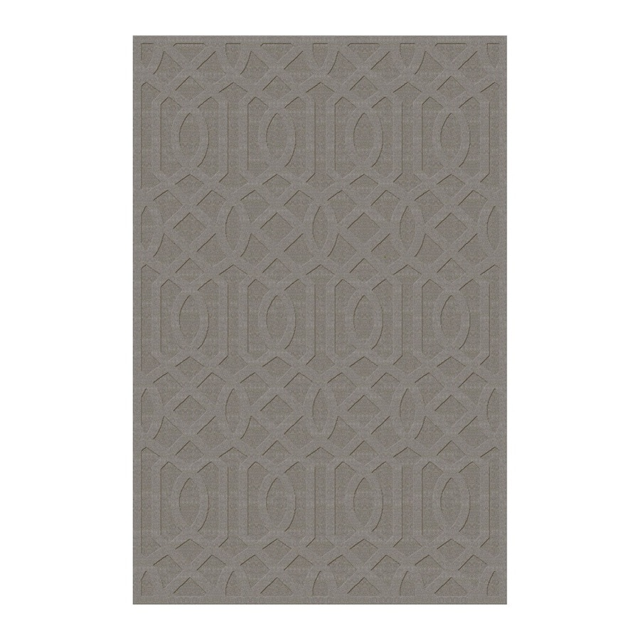 allen + roth Townlay Grey Rectangular Indoor Tufted Area Rug (Common: 5 x 8; Actual: 5-ft W x 7.5-ft L)