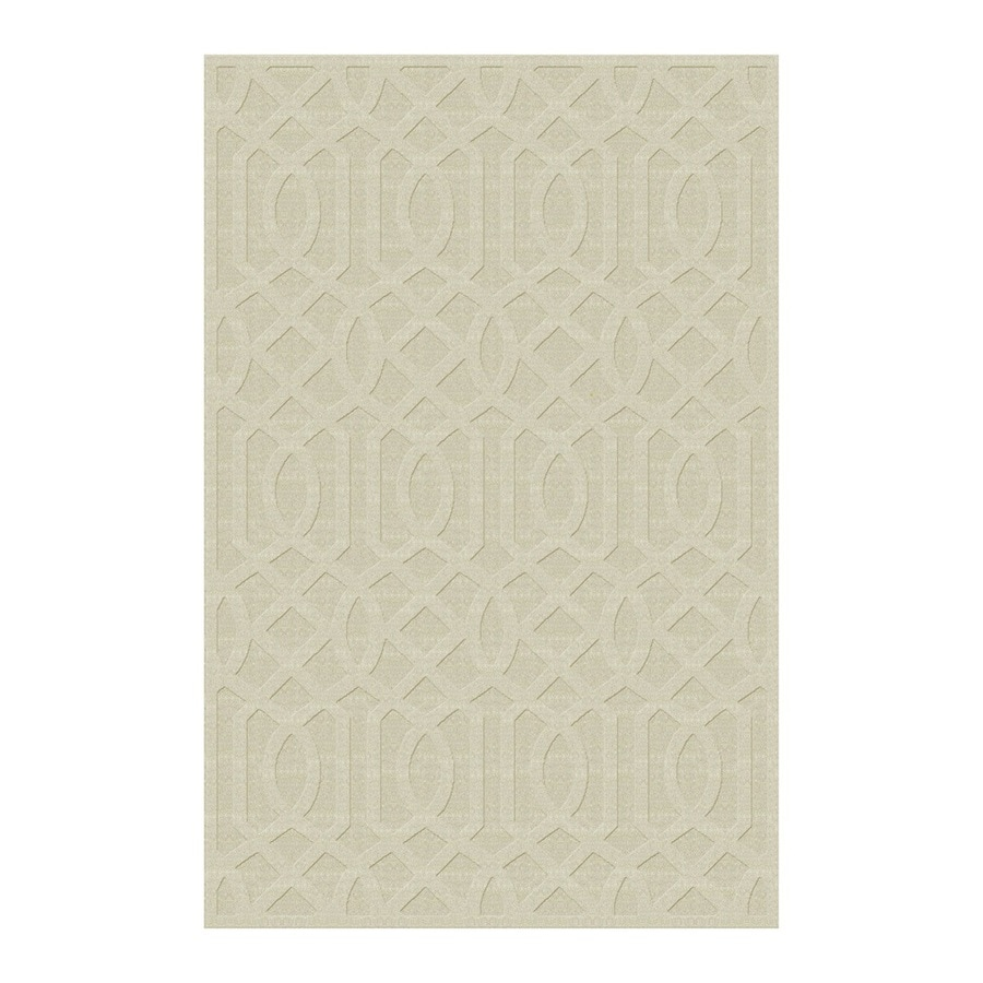 allen + roth TOWNLAY Ivory Rectangular Indoor Handcrafted Area Rug (Common: 9 x 12; Actual: 9-ft W x 12-ft L)
