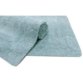 allen + roth 34-in x 20-in Blue Cotton Bath Mat