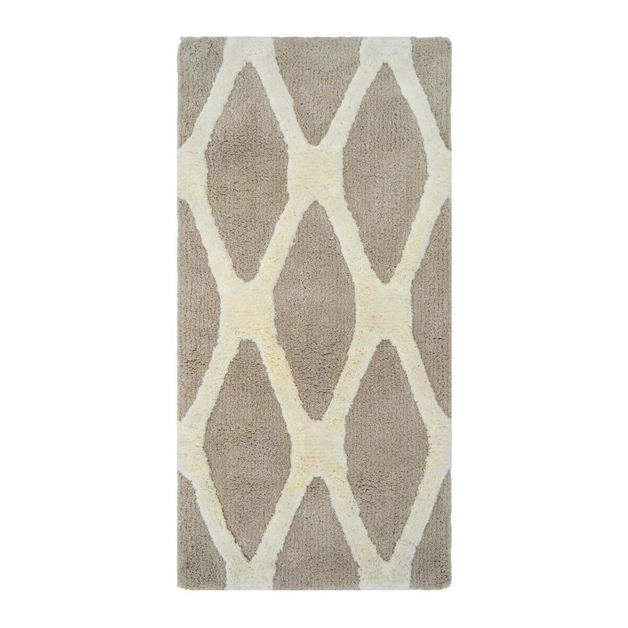 allen + roth Barrbridge Stone Cameo Rectangular Indoor Tufted Throw Rug (Common: 2 x 4; Actual: 2-ft W x 4-ft L)