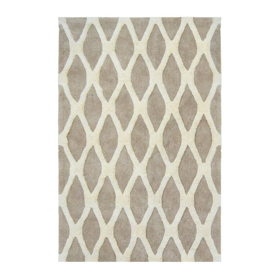 allen + roth Barrbridge Stone Cameo Rectangular Indoor Tufted Area Rug (Common: 5 x 8; Actual: 5-ft W x 7.5-ft L)