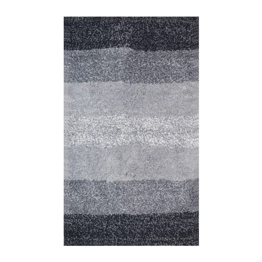 allen + roth Tonal Grey Rectangular Indoor Machine-Made Throw Rug (Common: 2 x 4; Actual: 2.25-ft W x 3.75-ft L)
