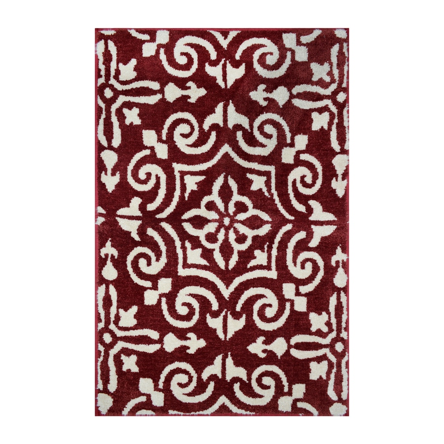 allen + roth Rust-Almond Rectangular Indoor Machine-Made Throw Rug (Common: 2 x 3; Actual: 2-ft W x 3-ft L)