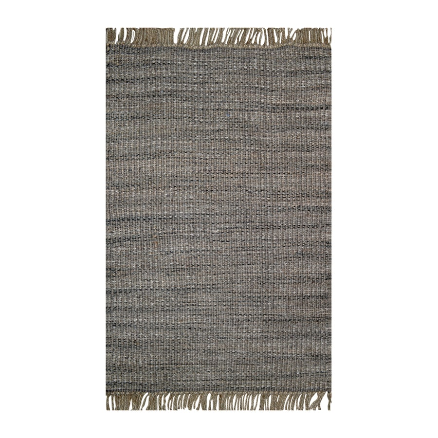 allen + roth Tonal Charcoal/Grey Rectangular Indoor Handcrafted Inspirational Throw Rug (Common: 2 x 4; Actual: 2.25-ft W x 3.75-ft L)