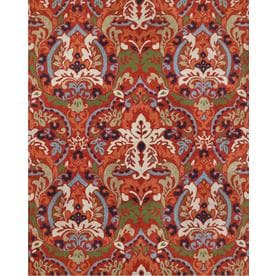 Allen Roth Bredina Pembroke Deep Red Indoor Outdoor Handcrafted Area Rug Common