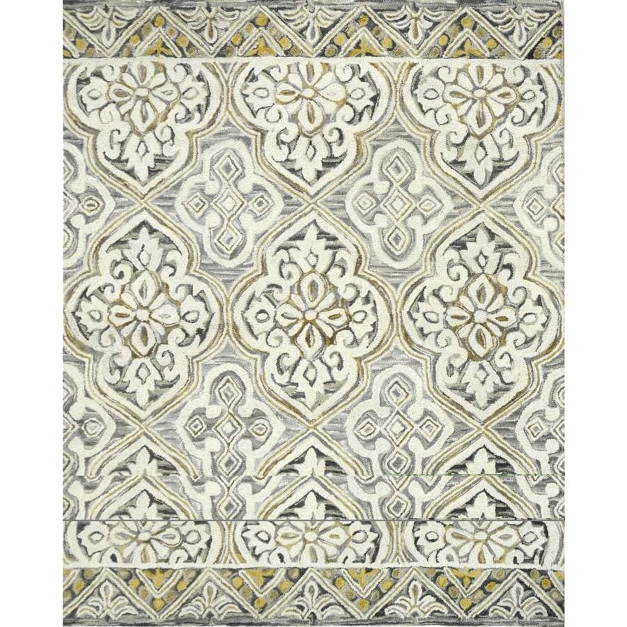 allen + roth Catley Grey - Charcoal Rectangular Indoor Handcrafted Novelty Area Rug (Common: 8 x 10; Actual: 8-ft W x 10-ft L)