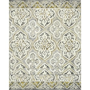 Allen Roth Catley Grey Charcoal Rectangular Indoor Handcrafted French Country Area Rug Common 8 X 10 Actual Ft W L At Lowes