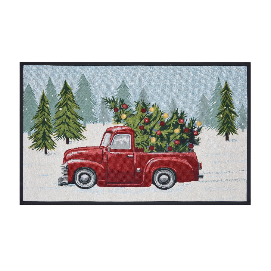 Holiday Living Multi Red Rectangular Indoor Machine-Made Holiday Throw Rug (Common: 2 x 3; Actual: 1.75-ft W x 2.83-ft L)