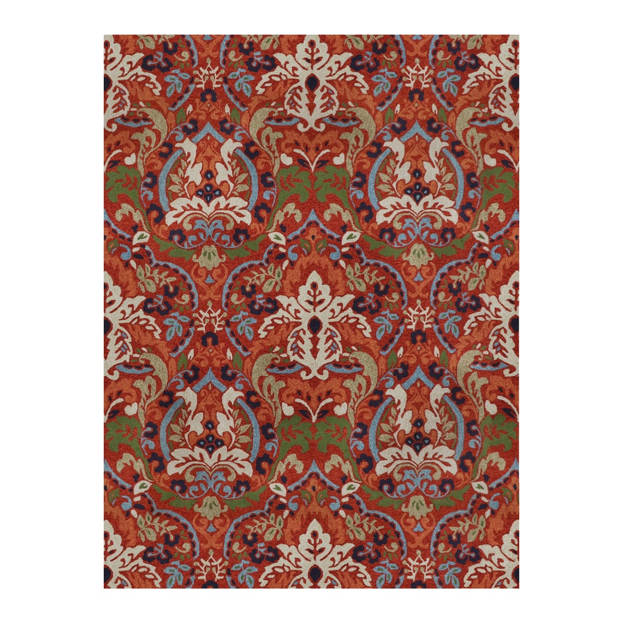 Blue Outdoor Rug 9x12: Shop Allen + Roth Bredina Deep Red Indoor/Outdoor
