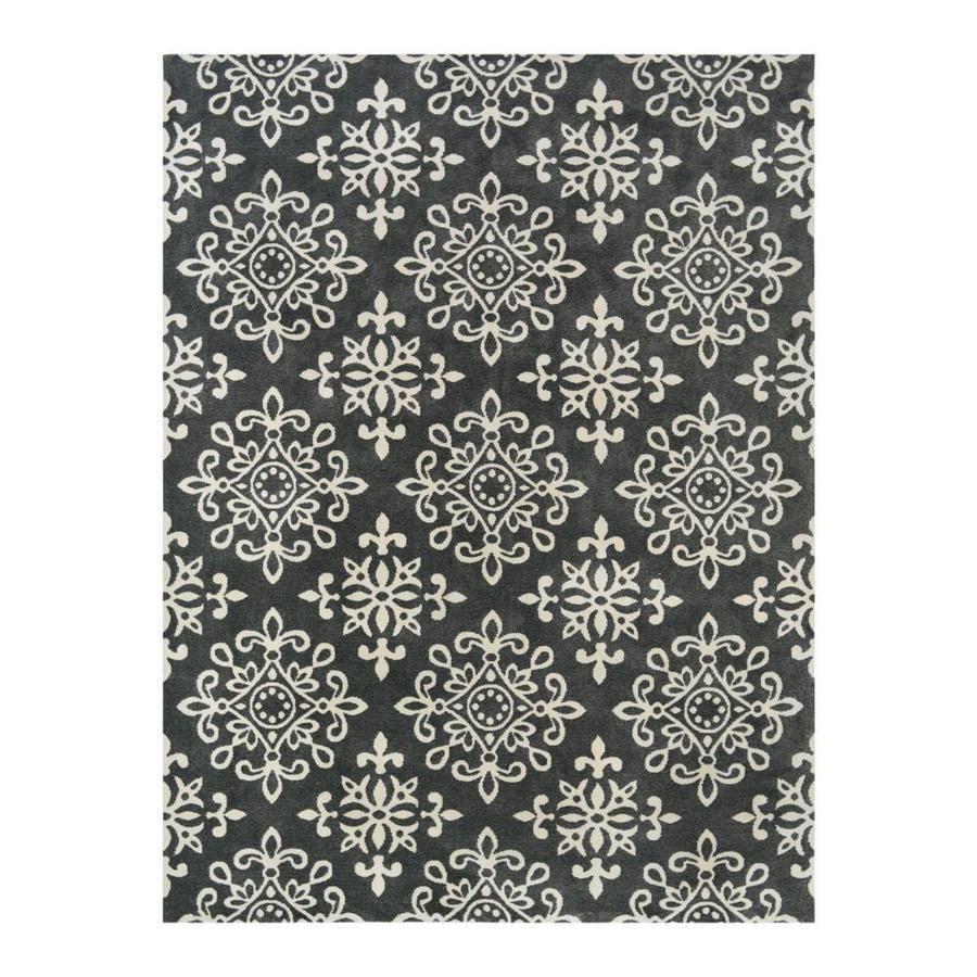 allen + roth CAPRONA Slate/Dark Mocha Rectangular Indoor Machine-Made Area Rug (Common: 9 x 12; Actual: 9-ft W x 12-ft L)