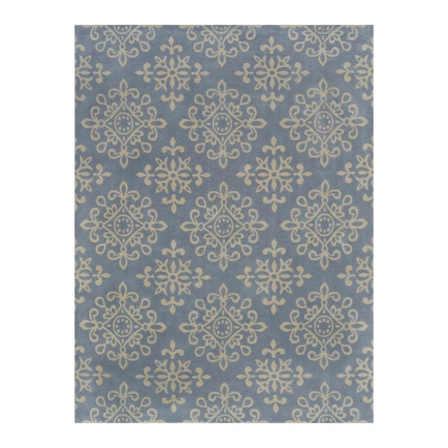 allen + roth CAPRONA Grey/Almond Rectangular Indoor Machine-Made Area Rug (Common: 9 x 12; Actual: 9-ft W x 12-ft L)