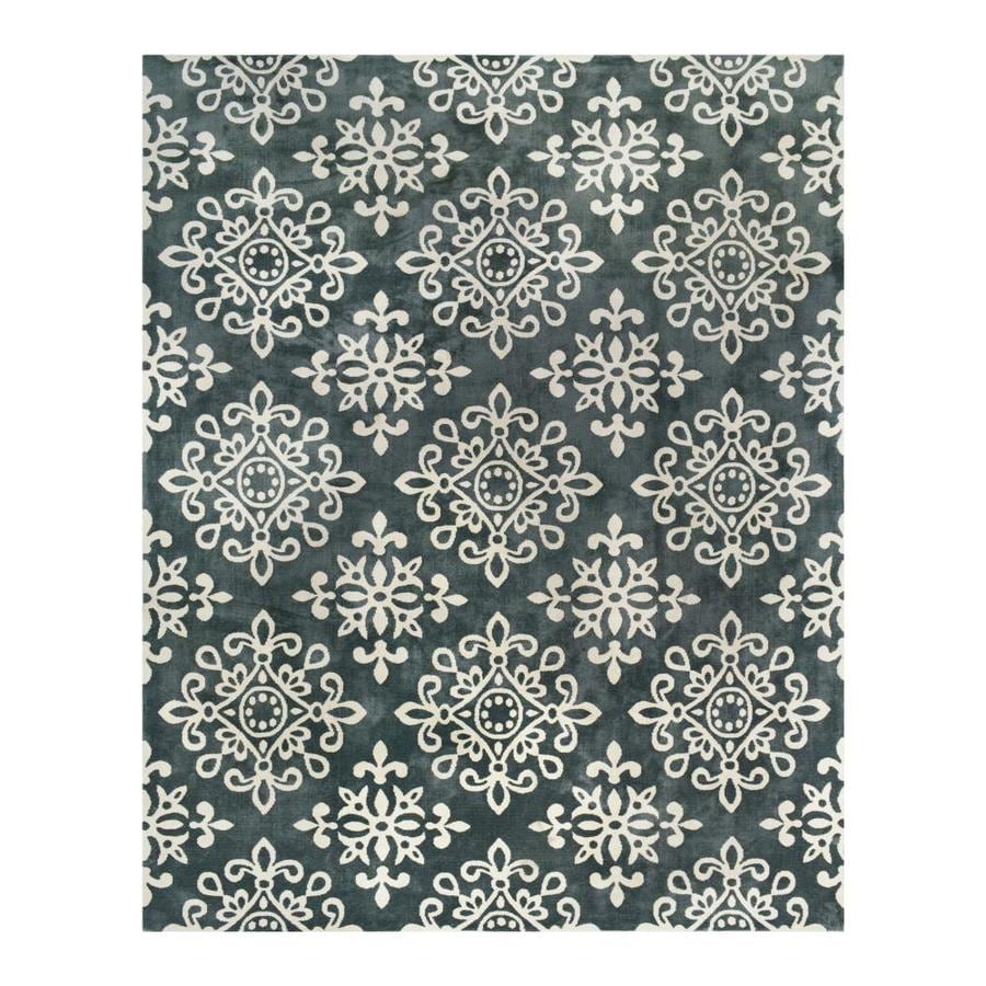 allen + roth CAPRONA Tonal Porcelain/Almond Indoor Area Rug (Common: 8 x 10; Actual: 8-ft W x 10-ft L)