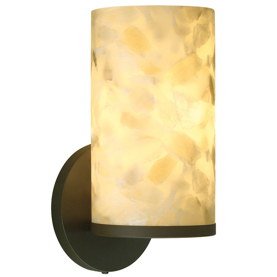 tiella Onyx 5-in W 1-Light Bronze Arm Hardwired Wall Sconce