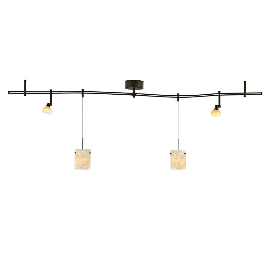 tiella 4light bronze decorative flexible track light with latte glass