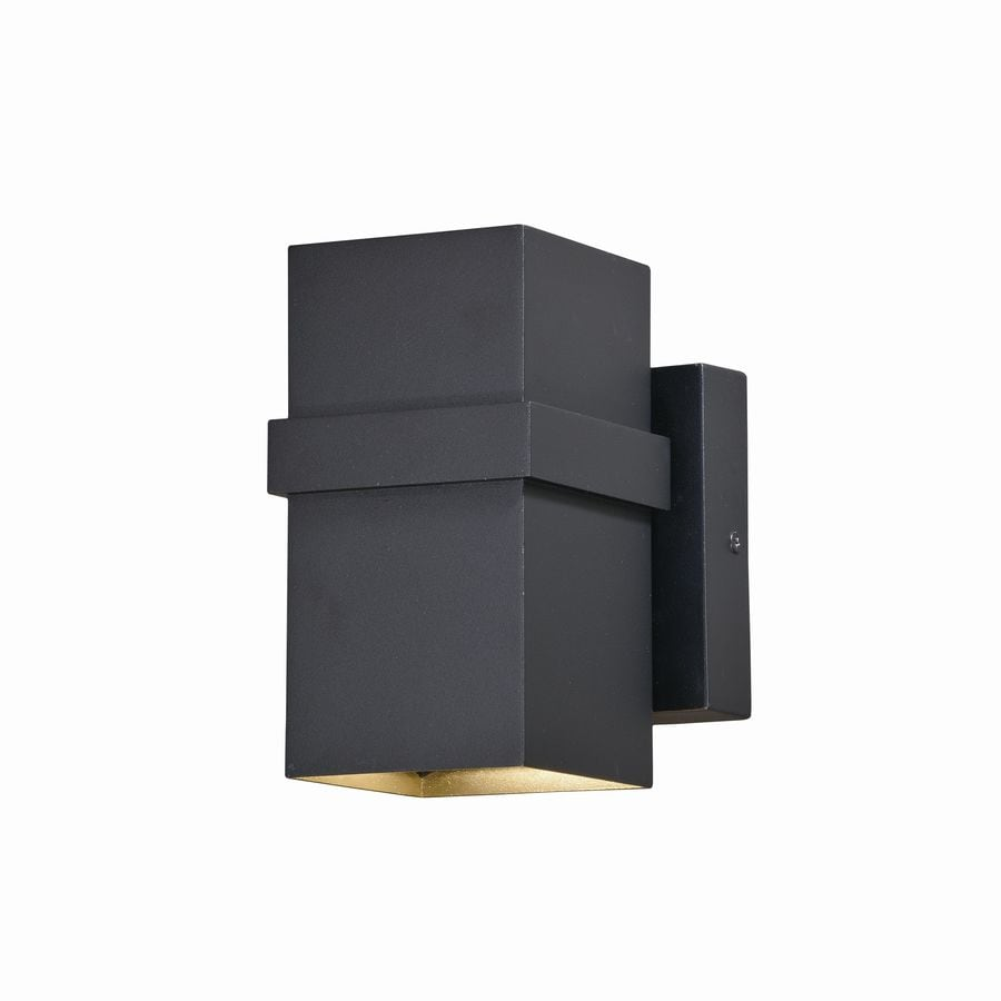 Cascadia Lavage 7-in H Textured Black LED Outdoor Wall ... on Cascadia Outdoor Living Spaces id=45666