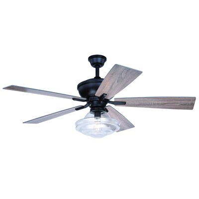 Cascadia Huntley 52 In Matte Bronze Led Indoor Ceiling Fan