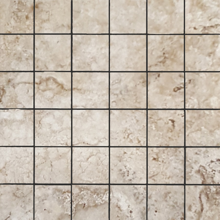 FLOORS 2000 Vesta Gray Uniform Squares Mosaic Porcelain Floor and Wall Tile (Common: 13-in x 13-in; Actual: 13.11-in x 13.11-in)