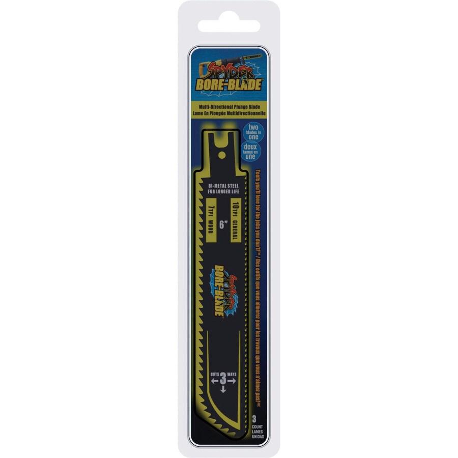 Spyder 6-in 10-TPI Bi-Metal Reciprocating Saw Blade