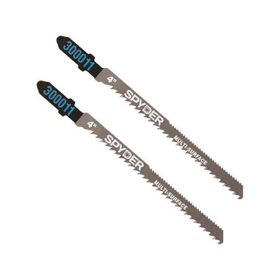Spyder 4-in T-Shank High-Speed Steel Jigsaw Blade