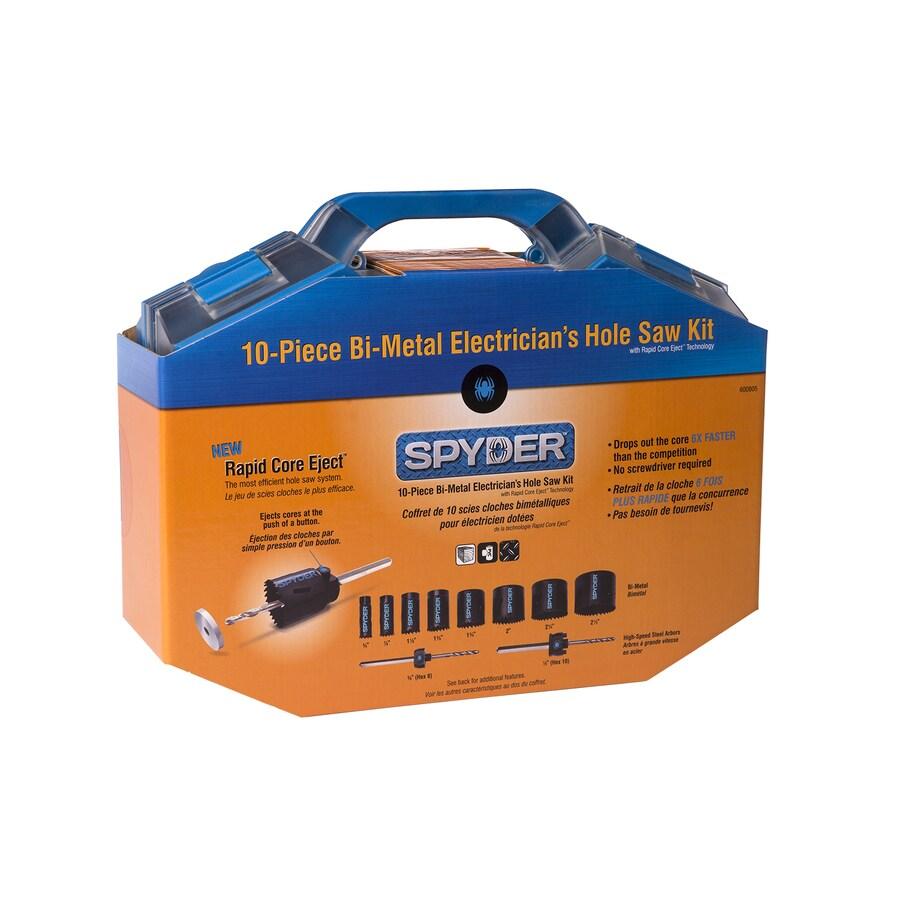Spyder 10-Piece Bi-Metal Hole Saw Kit