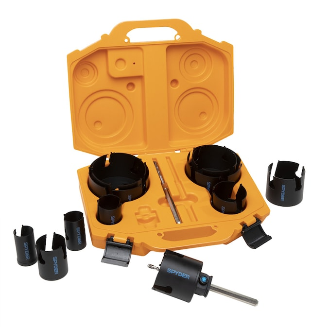 Spyder 14-Piece Carbide-Tipped Arbored Hole Saw Set in the ...