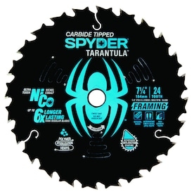 Spyder 7-1/4-in 24-Tooth Tungsten Carbide-Tipped Steel Circular Saw Blade