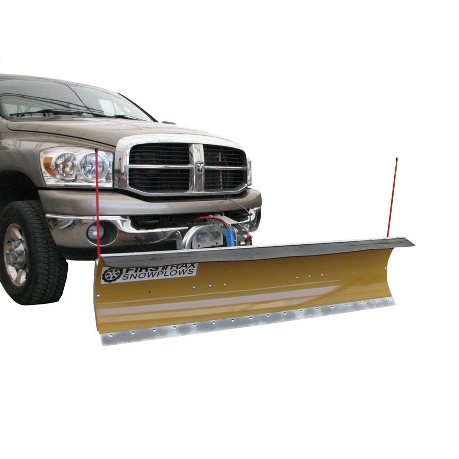FirstTrax Personal Snowplow 85-in W x 22-in H Steel Snow Plow