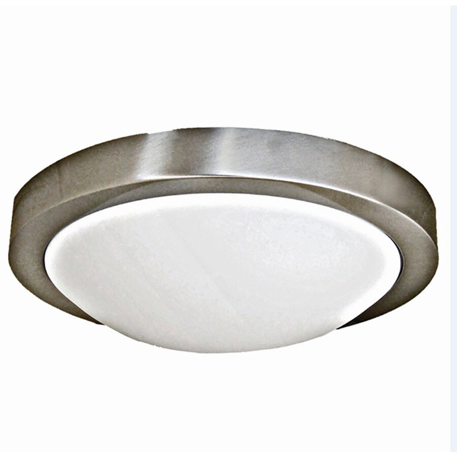 Khaleesi 13-in W Satin Chrome Flush Mount Light