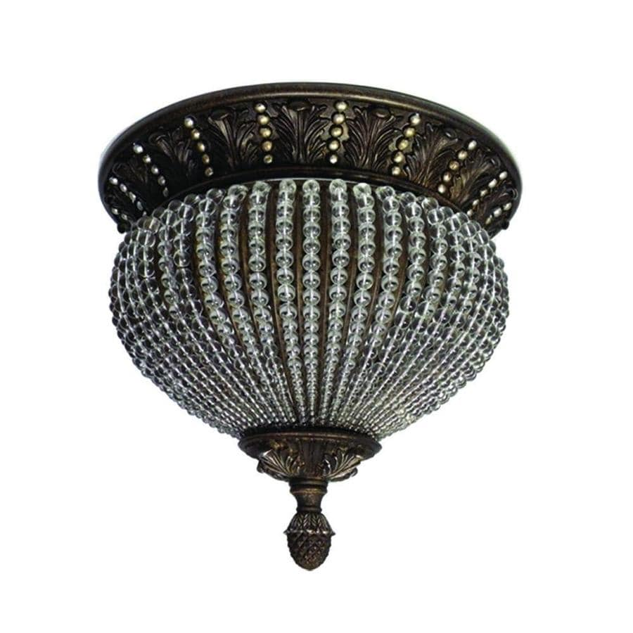 Khaleesi 13.5-in W Antique Brass Silver Standard Flush Mount Light
