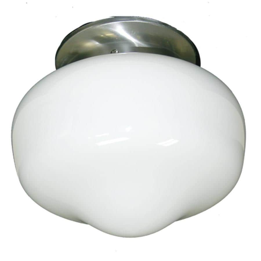 Khaleesi 9-in W Satin Chrome Frosted Glass Semi-Flush Mount Light