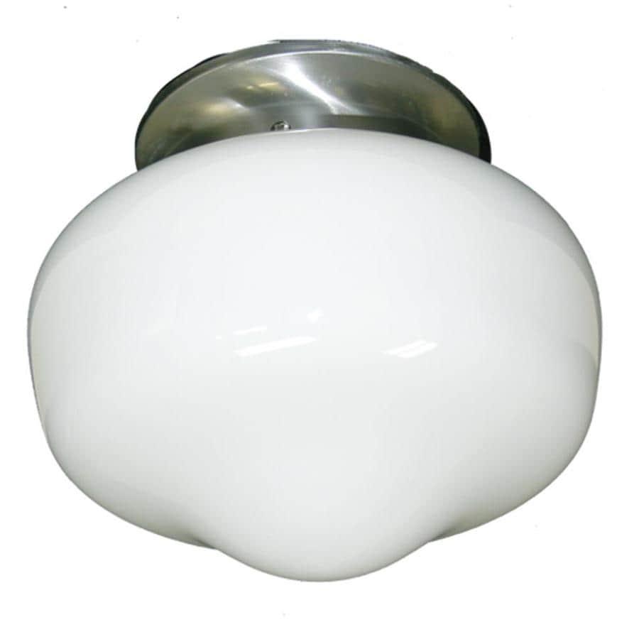 Khaleesi 9-in W Satin Chrome Frosted Glass Semi-Flush Mount Light