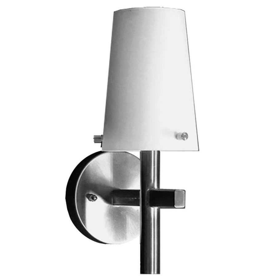Khaleesi 6.25-in W 1-Light Satin Chrome Arm Hardwired Wall Sconce