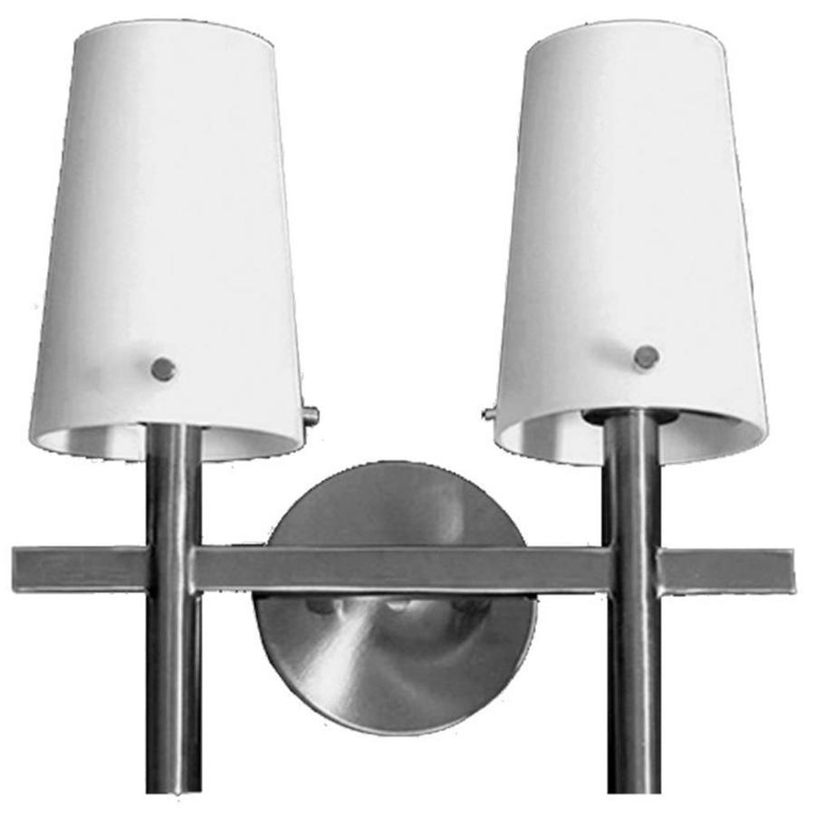 Khaleesi 2-Light 12-in Satin Chrome Vanity Light