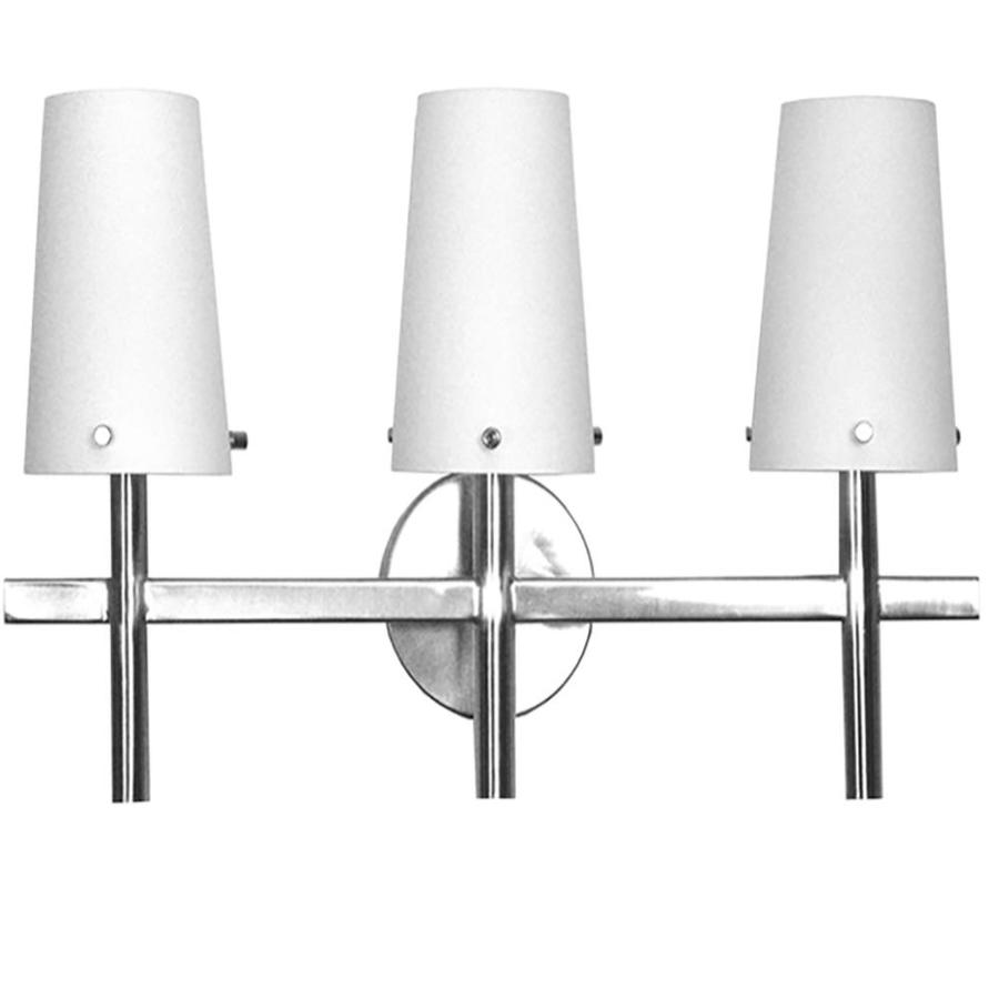 Khaleesi 3-Light 12-in Satin Chrome Vanity Light